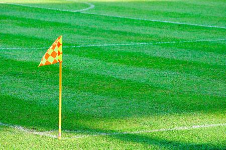 corner kick soccer: Corner flag on a soccer field