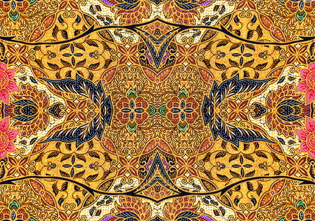 Pattern for traditional clothes malaysia include batik Stock Photo