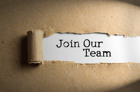 appoint: Torn paper with word Join Our Team