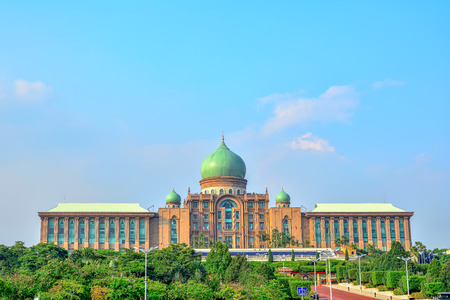 PUTRAJAYA - MARCH 13, 2016 : Persiaran Perdana Avenue in Putrajaya, Malaysia. Putrajaya is a symbol of the administration of a democracy that is practiced in Malaysia