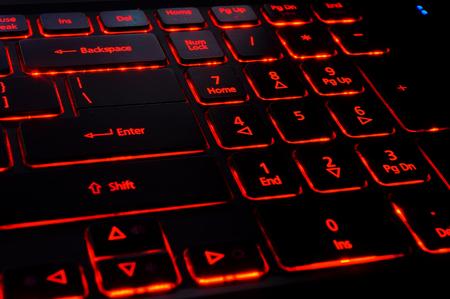 backlit keyboard: Keyboard with red back light