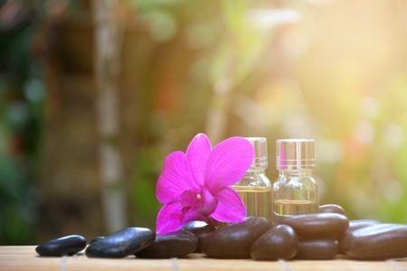 Spa treatment. Aromatherapy essence Stock Photo