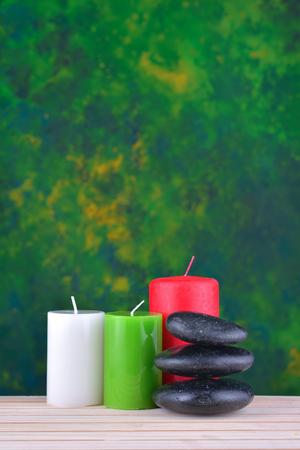 Stones spa treatment scene, zen like concepts. Stock Photo