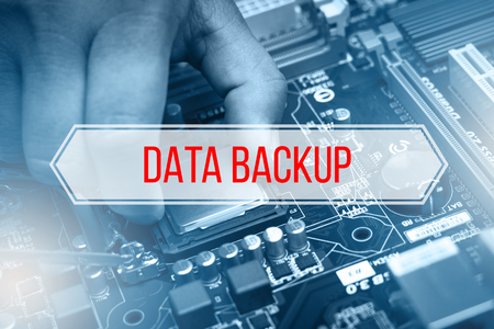 Computer Concept with text DATA BACKUP