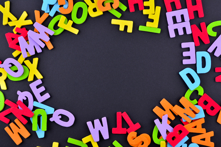 verbs: Colorful Alphabet letters