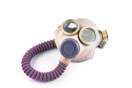respiration: Respirator mask on white background