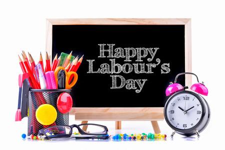 Feliz Día de los Trabajadores Foto de archivo - 78913256