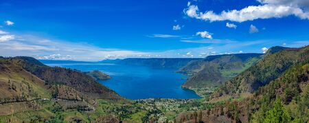 Beautiful view of Danau Toba or Lake Toba at Sumatera Utara, Indonesia Banco de Imagens