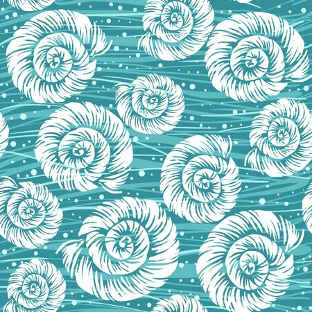 Shell vector seamless pattern Ilustrace
