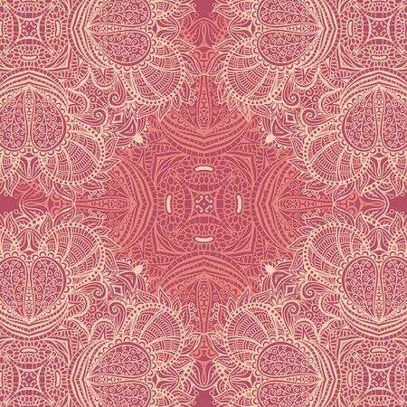 Abstract floral wavy background, symmetric ornament, can use for the design of carpet, neckerchief, shawl, pillow, cushion Foto de archivo - 149451584