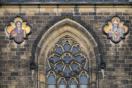 visegrad: Arch of St Peter and St Paul basilica in Vysehrad fortress in Prague