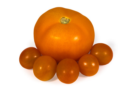 juicy: fresh juicy red tomato isolated