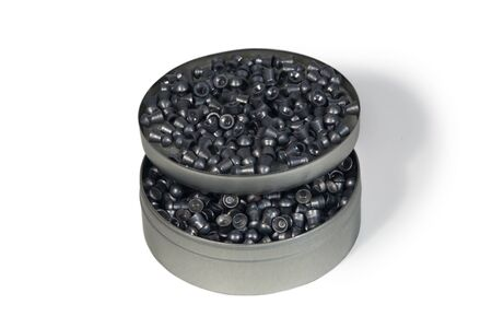 plumbum: round metall box with pneumatic bullets