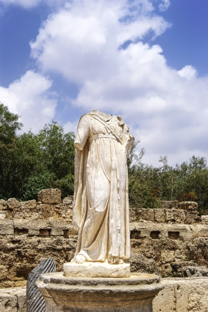 A headless statue of unknown person Stock Photo