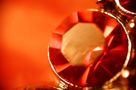 Macro of the ruby ring  selective DOF
