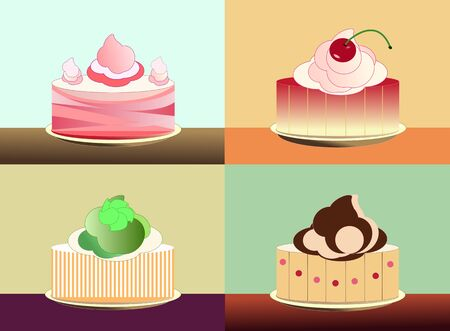 The set of cakes Vector