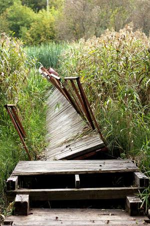 Broken old bridge
