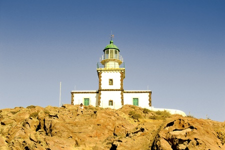 Santorini's lighhouse photo