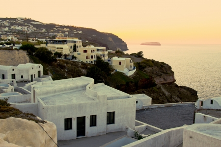 Santorinis sunset photo