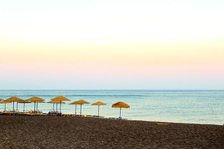 Santorinis beach Stock Photo