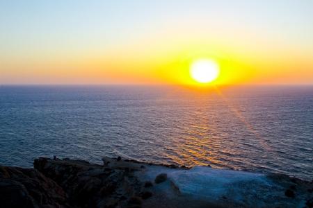 Santorinis sunset Stock Photo