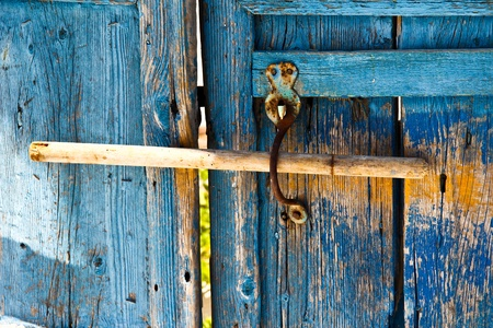 old wooden latch photo