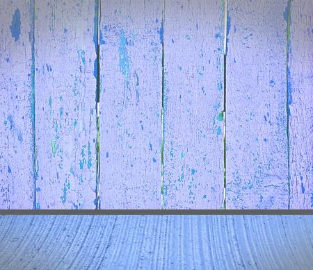 Interior in blues photo