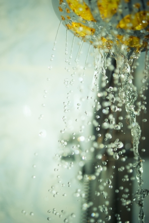 shower water abstract background