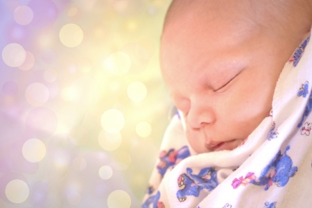 Cute sleeping baby Stock Photo - 21385491