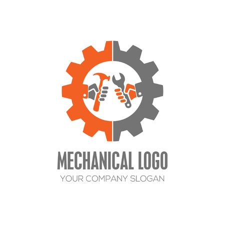 Mechanic Logo Template Design vector