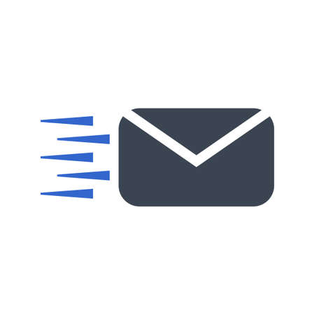 Fast message, mail icon, vector image