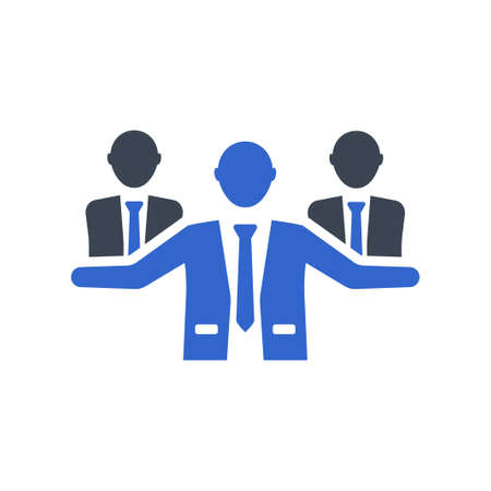 Business group icon, vector image