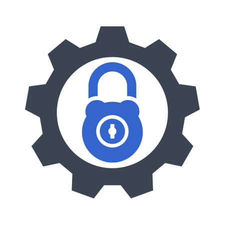 Setting Security Icon Vektoros illusztráció