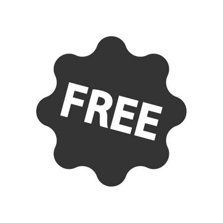 Free Label Icon, vector image