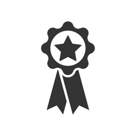 Star ribbon Icon, vector image 矢量图像