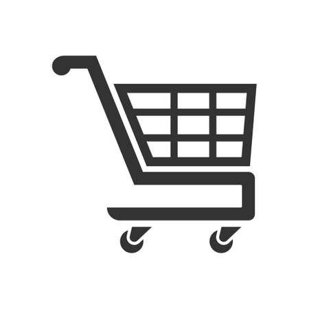 Shopping cart icon, vector image