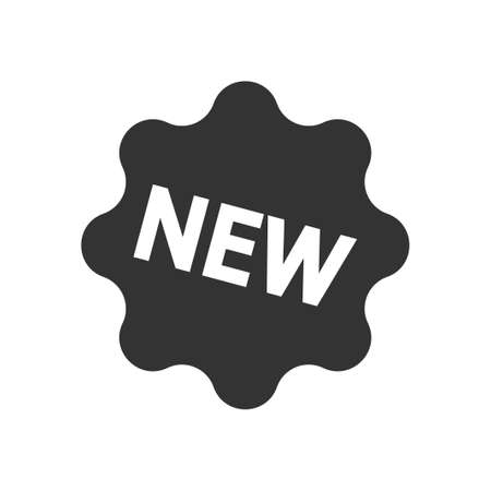 New label icon, vector image