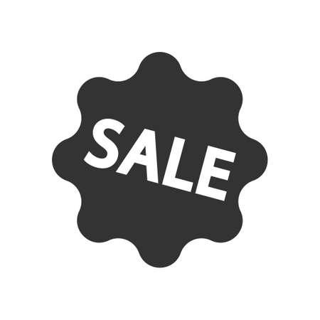 Sale label icon, vector image