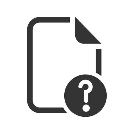 Unknown file icon, vector image 矢量图像