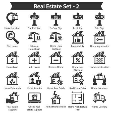 Real Estate Icon set 2 - Black series
