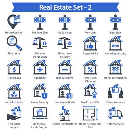 Real Estate Icon set 2 - Blue series