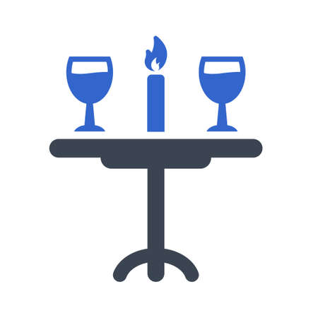 Candle light dinner icon
