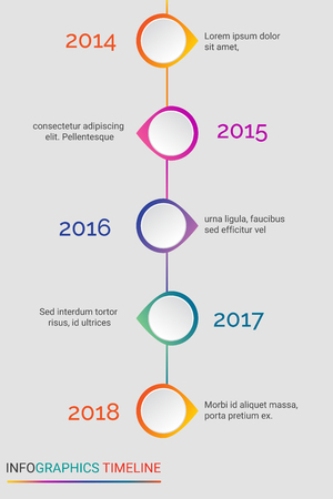 Yearly progress infographic vector design and illustration. Illustration