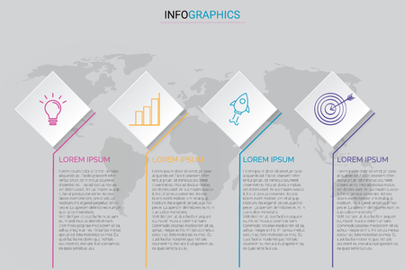 Business vector illustration infographic on worlds  background
