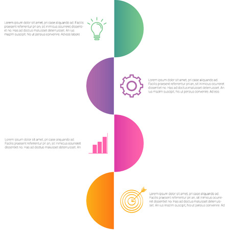 4 steps business infographic design with creative ideas vector illustration.