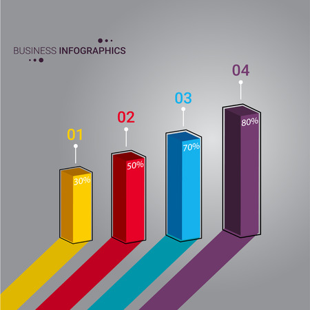 3D progress bar vector illustration design for business and corporate sector. infographic prensentation design and illustration.