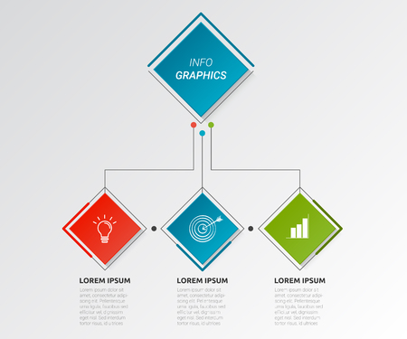 Rectangle shape infographic pipeline design and illustration. Illustration