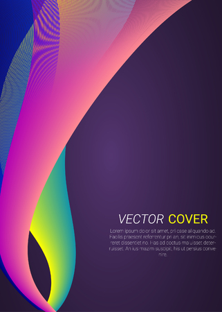 Colorful abstract design and illustration for template, poster and flyer design.