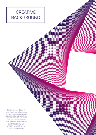 Abstract background design template and poster illustration. Illustration