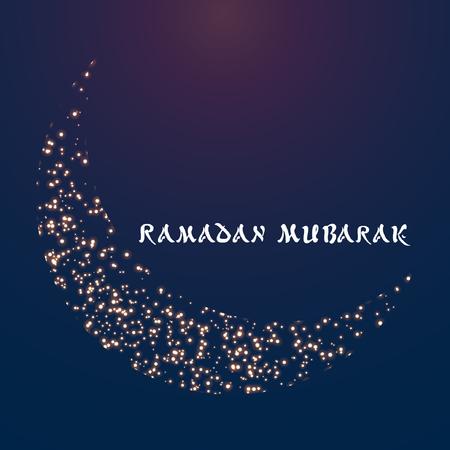 Ramadan mubarak vector illustration for card, poster and wallpaper.